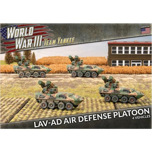 World War III: Team Yankee - LAV-AD Air Defense Platoon (x4 Plastic)