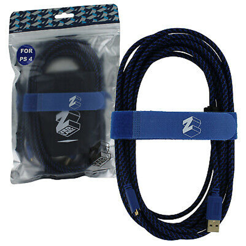ZedLabz Ultra (Gold Plated) 5M Extra Long USB Charge Cable - PS4