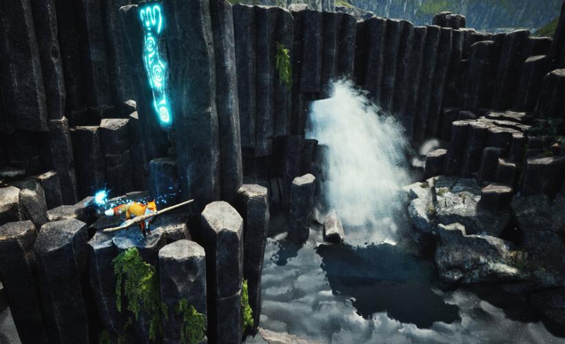 spirit of the north waterfall platforming
