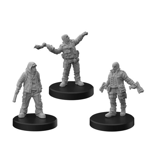 Cyberpunk Red Miniatures: Combat Zoners B (Punks)