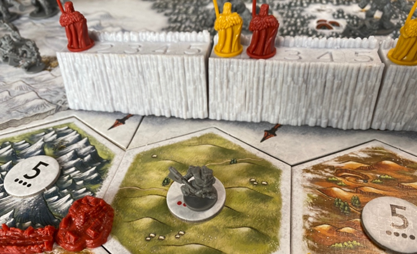 Game of Thrones Catan Board Close Up