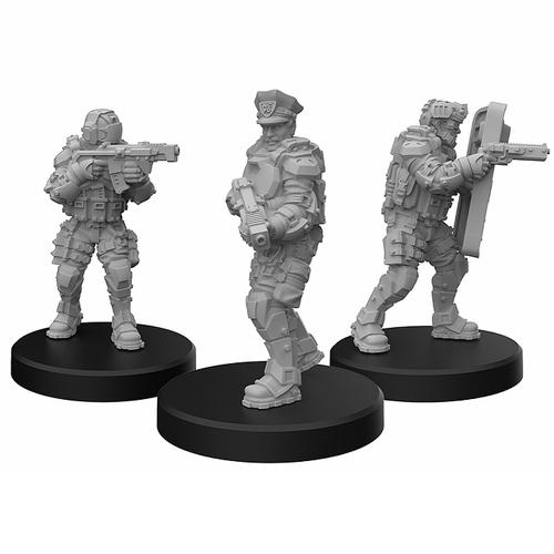 Cyberpunk Red Miniatures: Lawmen A (Command)