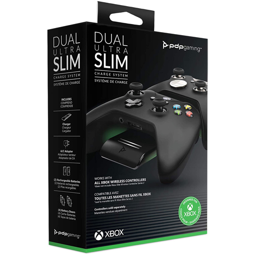 PDP Officially Licensed Xbox: Dual Ultra Slim Charge System - Xbox One/Xbox Series X