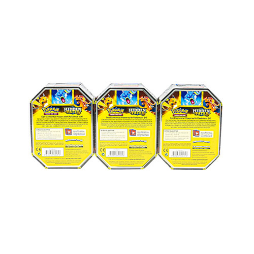 Pokemon TCG: Hidden Fates Tin – Set of 3