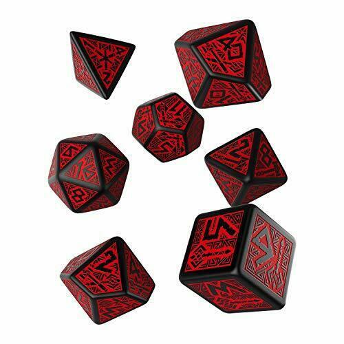 Q-Workshop Dwarven Black & Red Dice Set