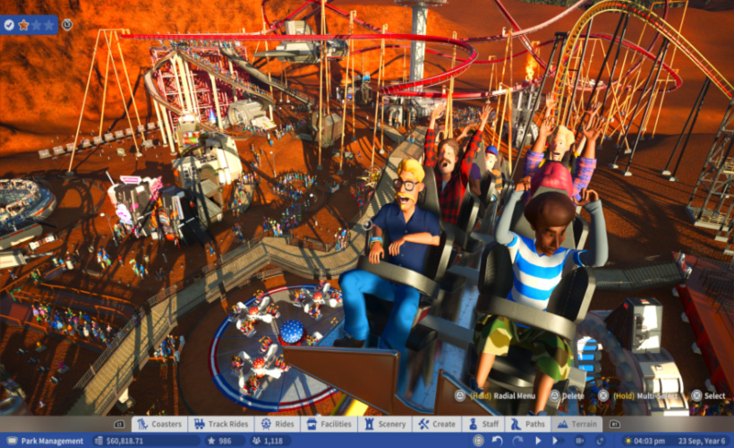 planet coaster hands in the air