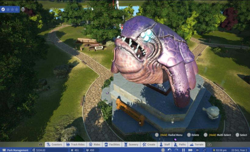planet coaster monster