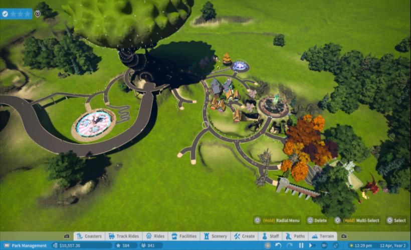 planet coaster park creation
