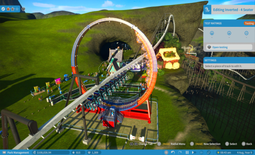 planet coaster ride within a ride
