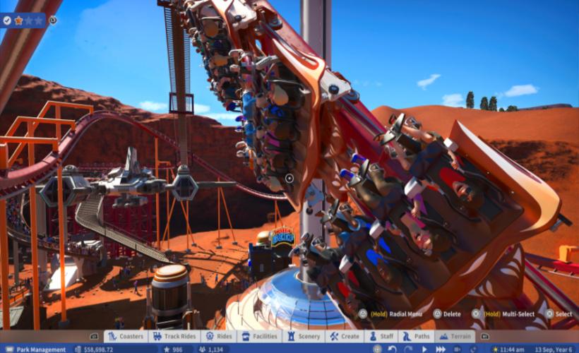 planet coaster rollercoaster design