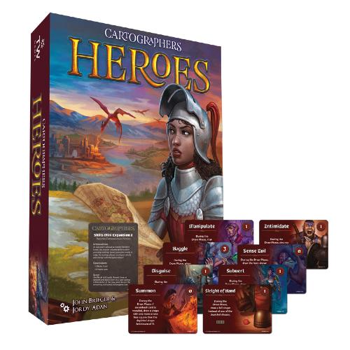 Cartographers Heroes Including Skills Mini Expansion 2 - Kickstarter Edition