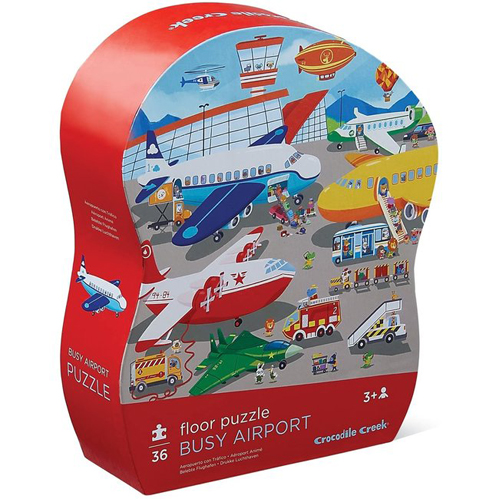 Crocodile Creek 36-piece Shaped Puzzle: Busy Airport
