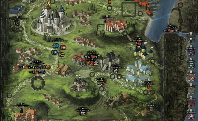 Dark Domains village