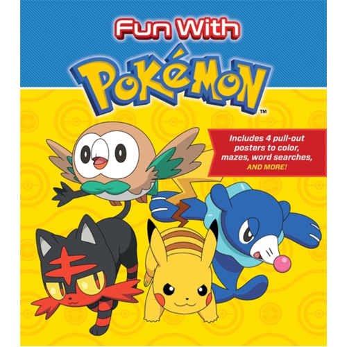 Fun with Pokemon : Includes 4 pull-out posters to color, mazes, word searches, and more!