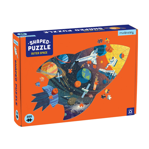 Mudpuppy 300-piece Shaped Puzzle: Outer Space