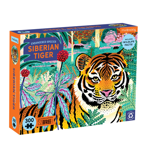 Mudpuppy 300 pieces Endangered Species Puzzle: Siberian Tiger