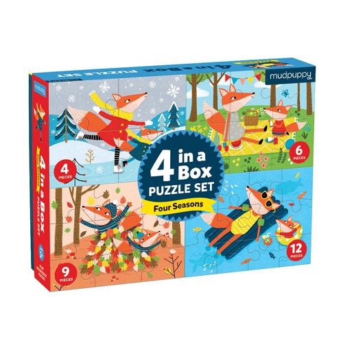 Mudpuppy 4 in a Box: Four Seasons