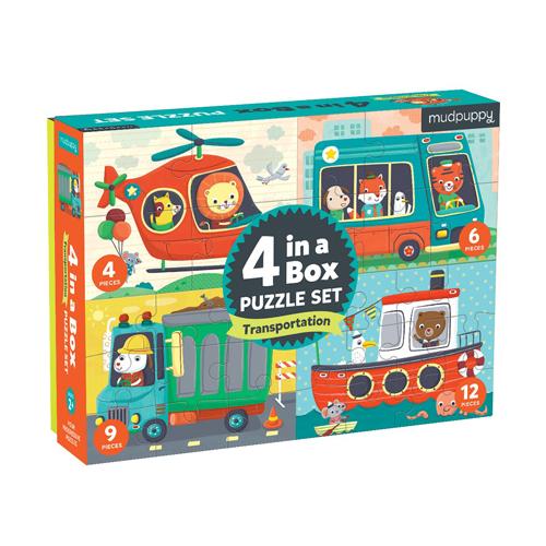 Mudpuppy 4 in a Box: Transportation