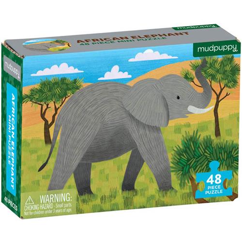 Mudpuppy 48-piece Mini Puzzle: African Elephant