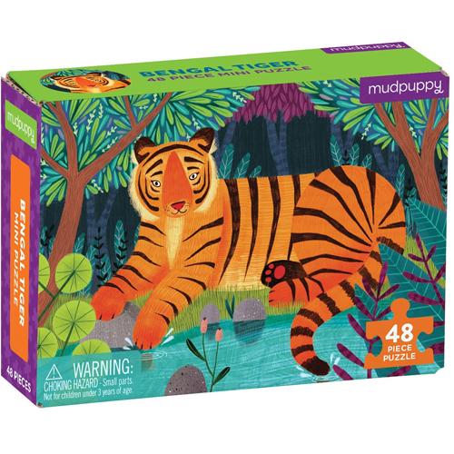 Mudpuppy 48-piece Mini Puzzle: Bengal Tiger