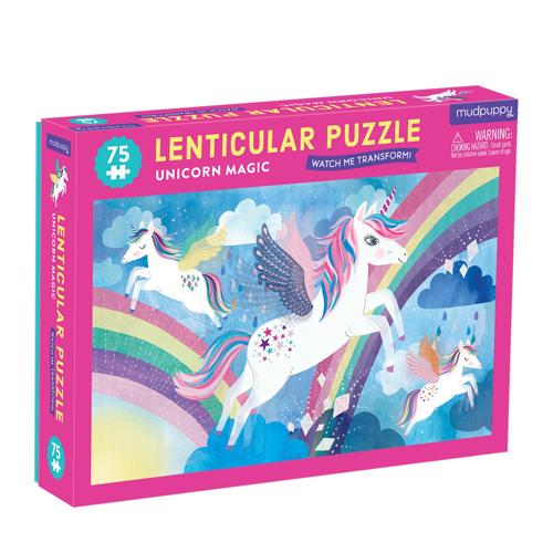 Mudpuppy 75 pieces Lenticular Puzzle: Unicorn Magic