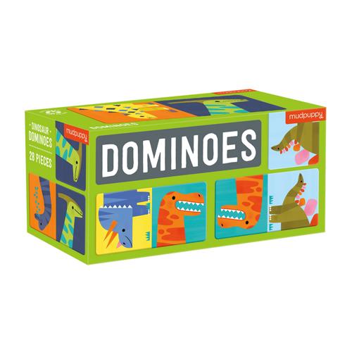 Mudpuppy Dominoes: Dinosaurs