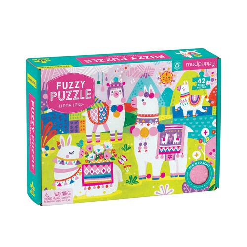 Mudpuppy Fuzzy Puzzle: Llama Land