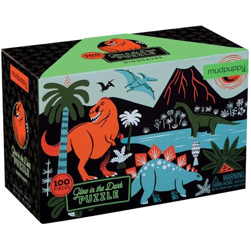 Mudpuppy Glow in Dark Puzzle: Dinosaurs