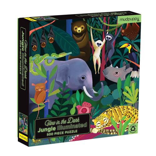 Mudpuppy Glow in Dark Puzzle: Jungle Illuminated