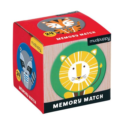 Mudpuppy Mini Memory Game: Geometric Animals