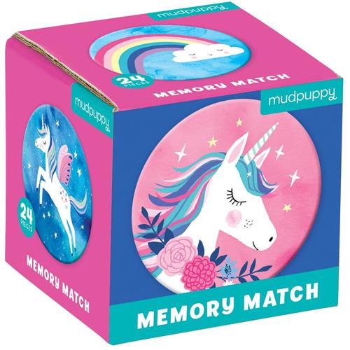Mudpuppy Mini Memory Game: Unicorn Magic