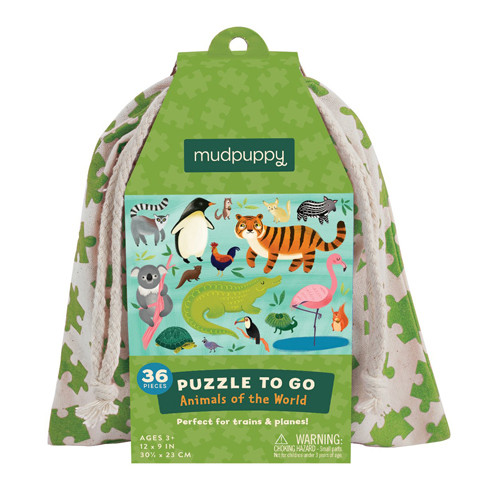 Mudpuppy Puzzle To Go: Animals Of the World