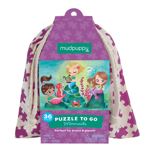 Mudpuppy Puzzle To Go: Mermaids