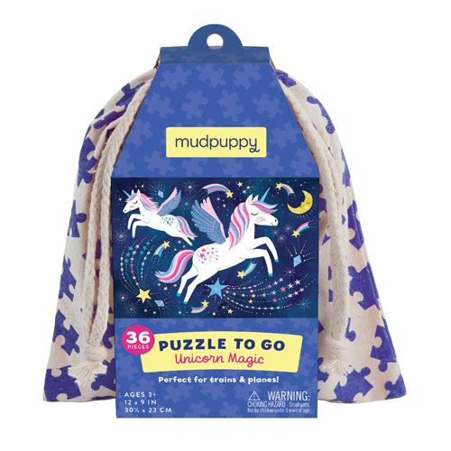 Mudpuppy Puzzle To Go: Unicorn Magic