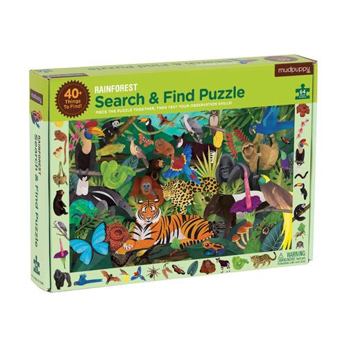Mudpuppy Search & Find Puzzle: Rainforest