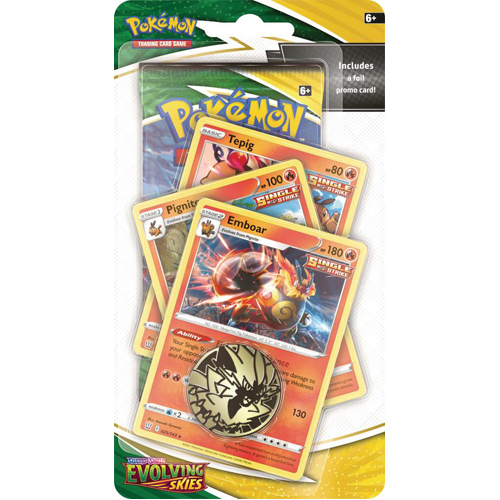 Pokemon TCG: Sword & Shield Evolving Skies Premium Checklane Blister - Emboar