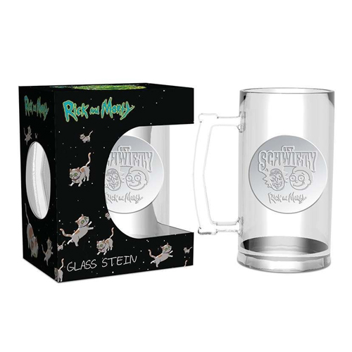 Rick and Morty Glass Stein
