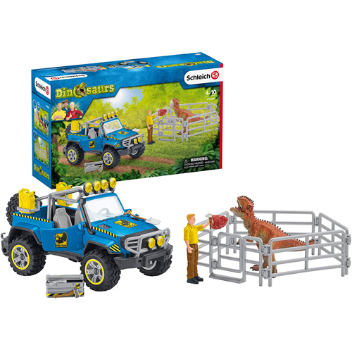 Schleich Off-road Vehicle With Dino Outpost