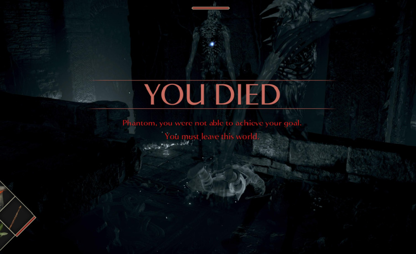 demons souls you died