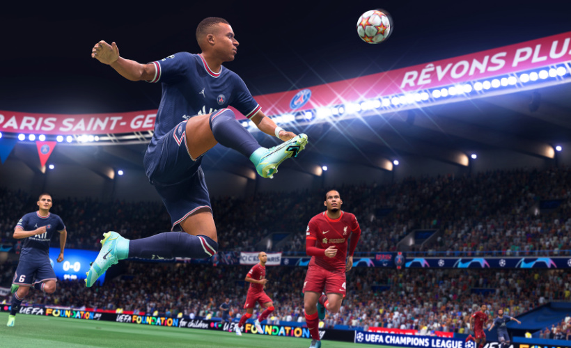 FIFA 22 on the pitch