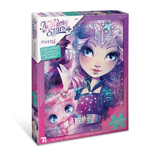 Glitter Puzzles 100 pcs - Nebulia & Stella