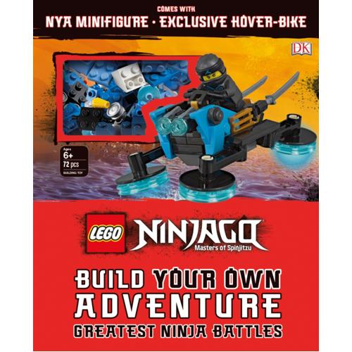 LEGO NINJAGO Build Your Own Adventure Greatest Ninja Battles : with Nya minifigure and exclusive Hover-Bike model