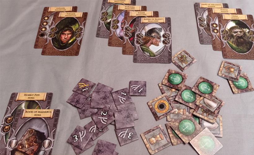 Lord Of The Rings 20th Anniversary Edition Components