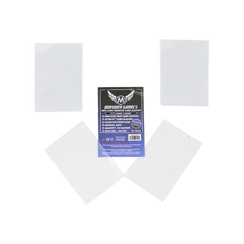 Mayday Premium 50 Clear Mini European Card Sleeves 45 x 68mm
