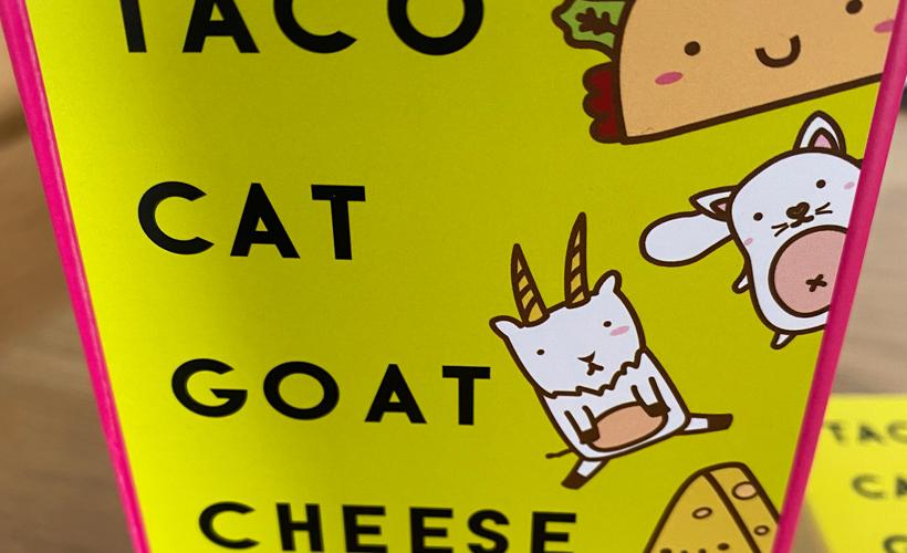 Taco Cat Goat Cheese Pizza Box