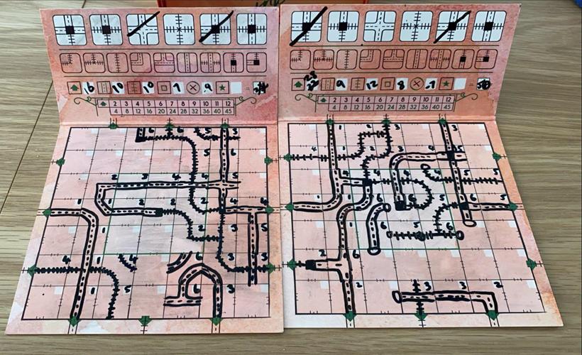 railroad ink fold board