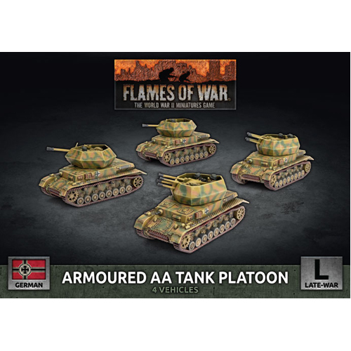 Armoured AA Tank Platoon (x4 Plastic)