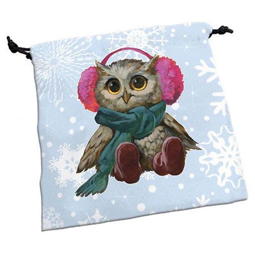 Deluxe Dice Bag Festive Owls