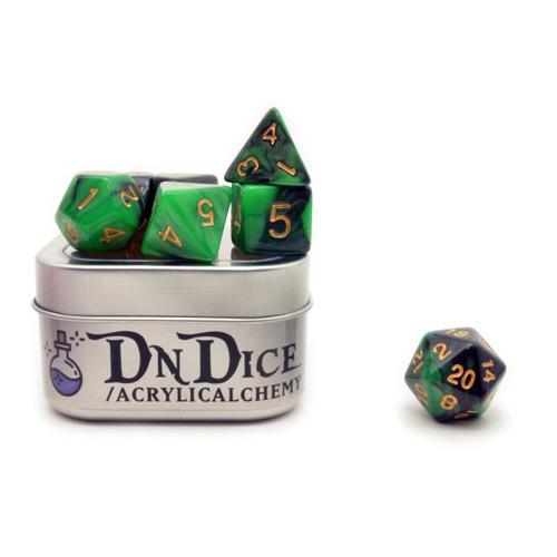 DnDice Acrylic Alchemy: Ankhegsretch Dice Set