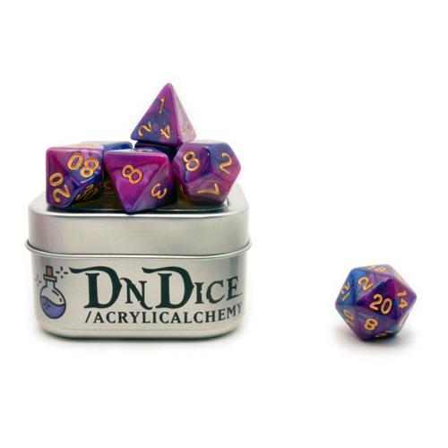 DnDice Acrylic Alchemy: Mad Mage's Mixture Dice Set